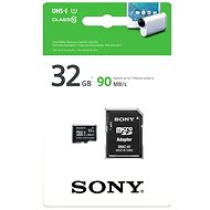 Sony MicroSDHC 32GB Class 10 UHS-I + SD Adapter - Memory Card