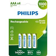 Philips R03B4RTU10 4pcs - Rechargeable Battery