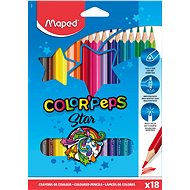 MAPED ColorPeps Classic, 18 Colours, Triangular - Coloured Pencils