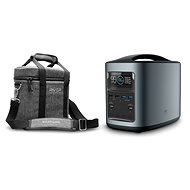 EcoFlow RIVER370 Portable Power Station Black + Element Proof Protective Case - Charging Station