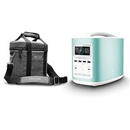 EcoFlow RIVER370 Portable Power Station Blue + Element Proof Protective Case - Charging Station