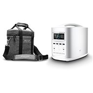 EcoFlow RIVER370 Portable Power Station Silver + Element Proof Protective Case - Charging Station