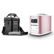 EcoFlow RIVER370 Portable Power Station Pink + Element Proof Protective Case - Charging Station
