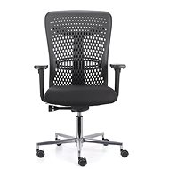 EMAGRA ATHENA Black with Aluminium Cross - Office Chair