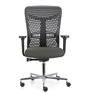 EMAGRA ATHENA Grey with Aluminium Cross - Office Chair