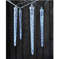 EMOS LED Christmas Garland - 10 Icicle Tubes, cool white, timer - Christmas Lights