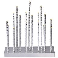 EMOS LED Christmas Decoration - Candle Stand Silver, 3× AA, warm white, timer - Christmas Lights