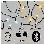 Application Controlled LED Christmas Chain, 20m, Outdoor, Cold/Warm White - Christmas Lights