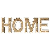 LED HOME  Wooden Sign , 45cm, 2x AA, Indoor, Warm White - Christmas Lights