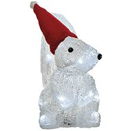 LED Christmas  Squirrel, 22cm, 3x AA, Cool White, Timer - Christmas Lights