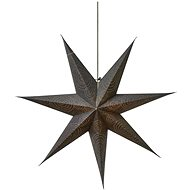LED Christmas Star Paper Silver, 75cm, 2x AA, Warm White - Christmas Lights