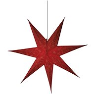 LED Christmas Star Paper Red, 75cm, 2x AA, Warm White - Christmas Lights