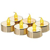 LED Decoration - 6x Golden Candle, 6 x CR2032 - Christmas Lights
