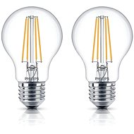 Philips LED Classic Filament Retro 6-60W, E27, 2700K, clear, set of 2 - LED bulb