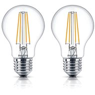 Philips LED Classic Filament Retro 6-60W, E27, 2700K, clear, set 2pcs - LED bulb