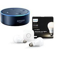 Philips Hue White 8.5W E27 starter kit + Amazon Echo Dot black (2nd generation) - LED bulb