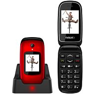 EVOLVEO EasyPhone FD, Red - Mobile Phone
