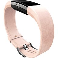 Fitbit Charge 2 Band Leather Blush Pink Large - Strap