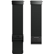 Fitbit Versa Accessory Band, Metal Mesh, Black Stainless Steel, Standard - Watch band