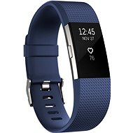 Fitbit Charge 2 Large Blue Silver - Fitness Tracker