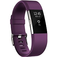 Fitbit Charge 2 Large Plum Silver - Fitness Bracelet