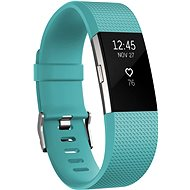 Fitbit Charge 2 Large Silver Teal - Fitness Bracelet