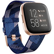 Fitbit Versa 2 Special Edition (NFC) - Navy & Pink Woven - Smartwatch
