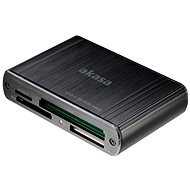 AKASA USB 3.0 Multi Card Reader AK-CR-08BK - Card Reader