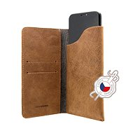 FIXED Pocket Book for Apple iPhone XR Brown - Mobile Phone Case