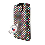 FIXED Soft Slim with PU Closure, PU Leather, 4XL Size + Rainbow Dots - Mobile Phone Case