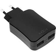 FIXED with 2xUSB output 24W (2x2 4A) black - Charger
