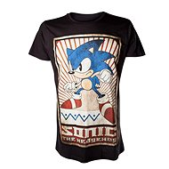 T-shirt: Sonic - black t-shirt with Sonic motif - T-Shirt