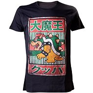 T-Shirt: Nintendo black with Bowser Kanji motif - T-Shirt