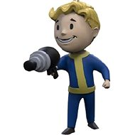 Fallout Vault Boy 3D - Energy Weapon - Keychain - Charm