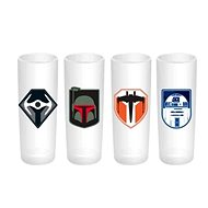 Star Wars - stamps (4x) - Glass for Cold Drinks