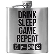 Drink Sleep Game Repeat Hip Flask - Microwave steamer