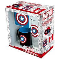 Captain America set - mug, tray, glass - Gift Set