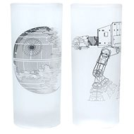 Death Star & AT-AT Walker - 2x Glass