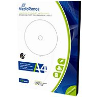 MediaRange CD/DVD/Blu-ray labels 15mm-118mm white - Sticker