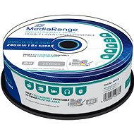 MediaRange DVD+R Dual Layer 8.5GB Inkjet Printable, 25 discs - Media
