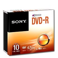 Sony DVD-R 10pcs in SLIM Box - Media