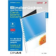 GENIE - Back Plate for A4 Binding, Black, 25 pcs - Thermal Binders