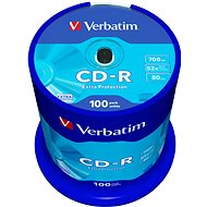 Verbatim CD-R 52x DataLife Protection, 100 Pack Spindle - Media