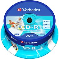 Verbatim CD-R DataLife Protection 52x, Printable 25 pack cake box
