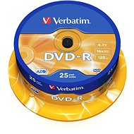 Verbatim DVD-R 16x, 25pcs cakebox