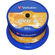 Verbatim DVD-R 16x, 50pcs cakebox - Media