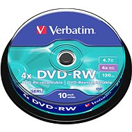 Verbatim DVD-RW 4x, 10 piece cakebox - Media