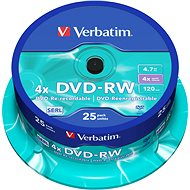 Verbatim DVD-RW 4x, 25pcs cakebox - Media Accessories