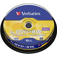 Verbatim DVD+RW 4x, 10pcs cakebox - Media