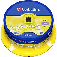 Verbatim DVD + RW 4x, 25pcs cakebox - Media